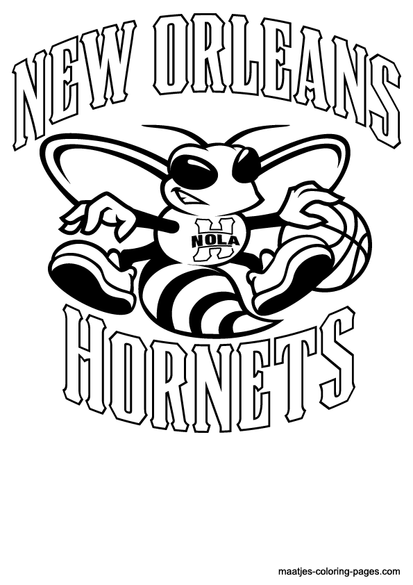 New Orleans Hornets Logo Coloring Page Coloring Home