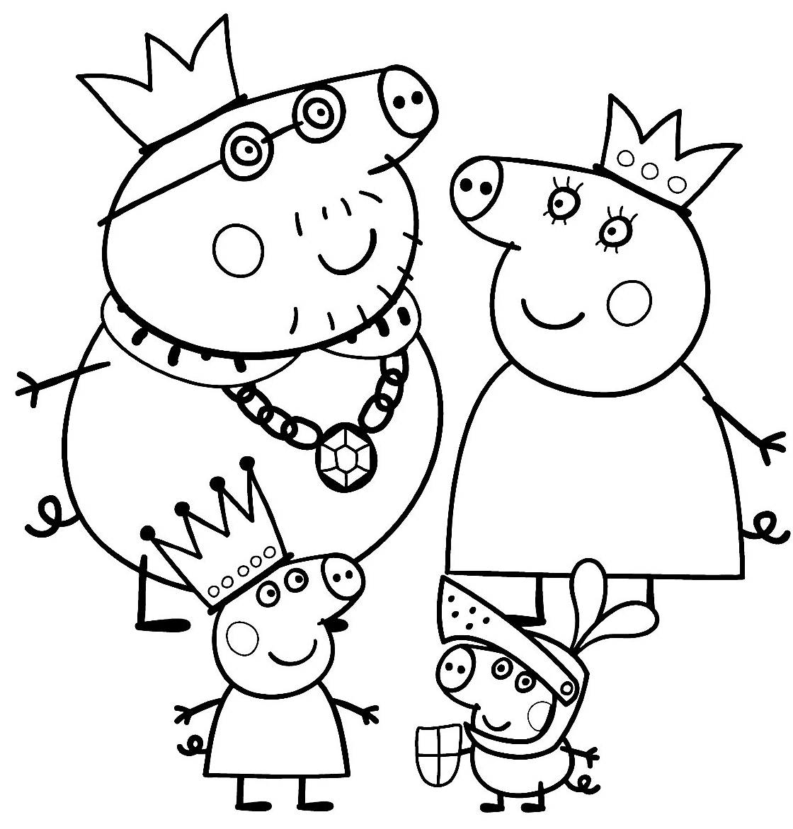 13 Pics of Peppa Pig Family Coloring Pages - Peppa Pig Coloring ...