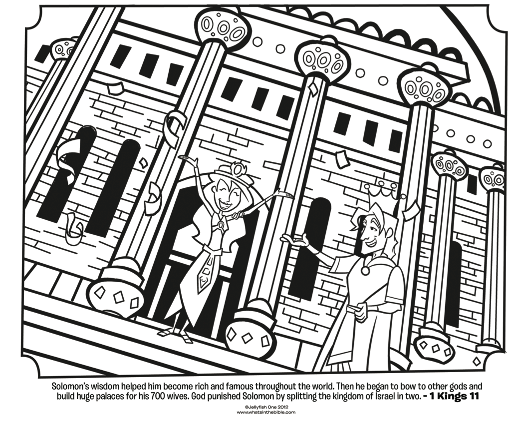 King Solomon and Wives - Bible Coloring Page | What's in the Bible?