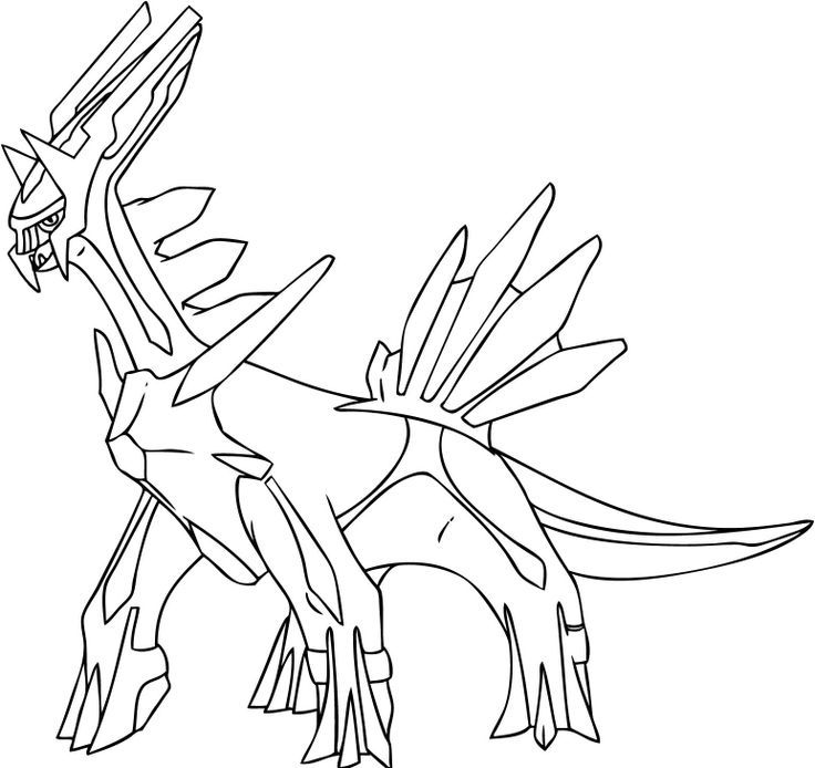 Big Dragon Pokemon Coloring Pages