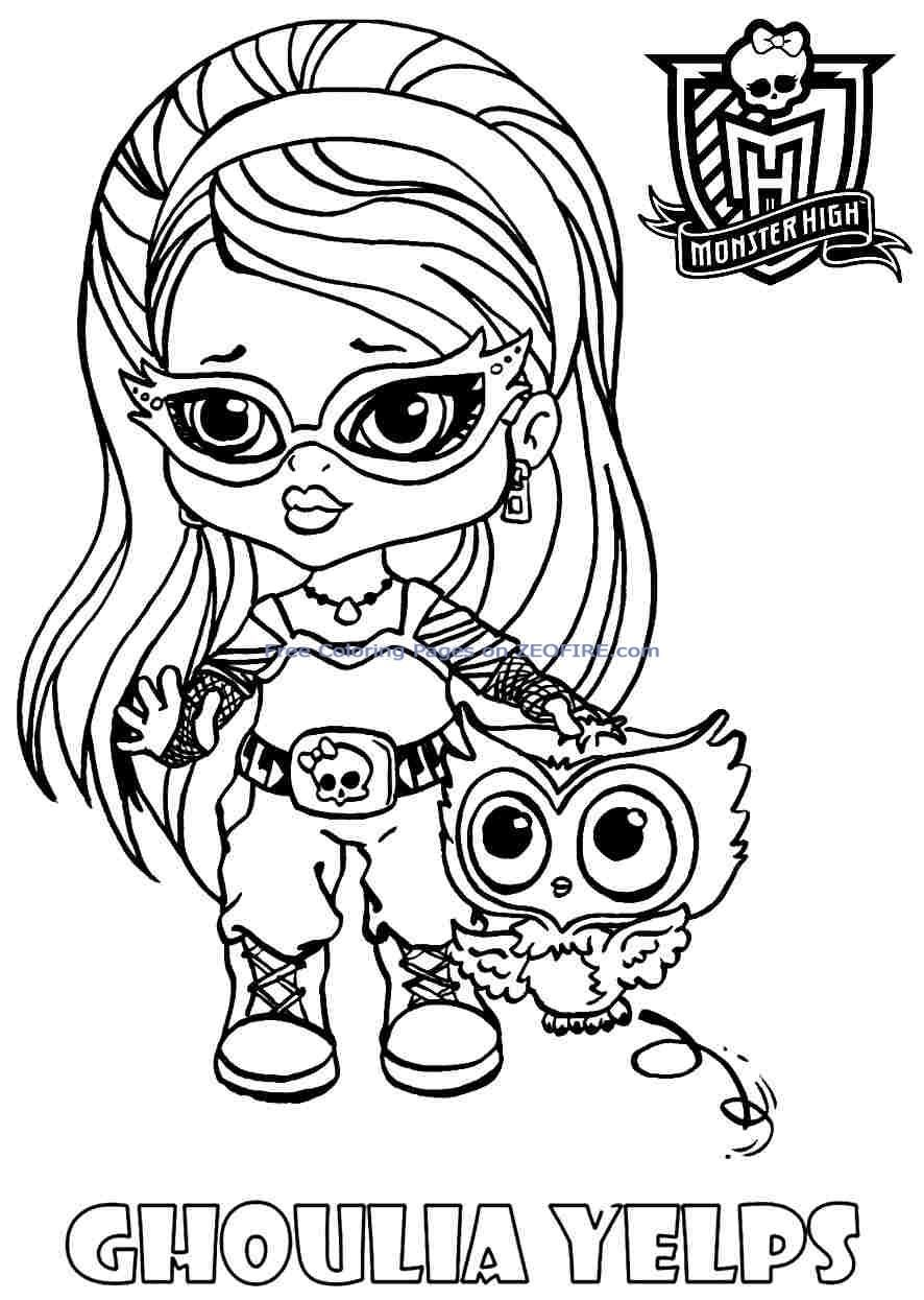 Free baby monster high coloring pages az coloring pages - Coloriage monster high baby ...