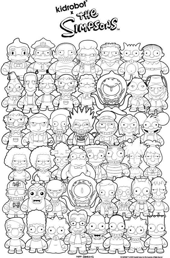 Coloring Pages For Kids Simpsons - Coloring Home