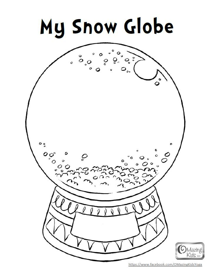 fox snow globe coloring pages - photo#3