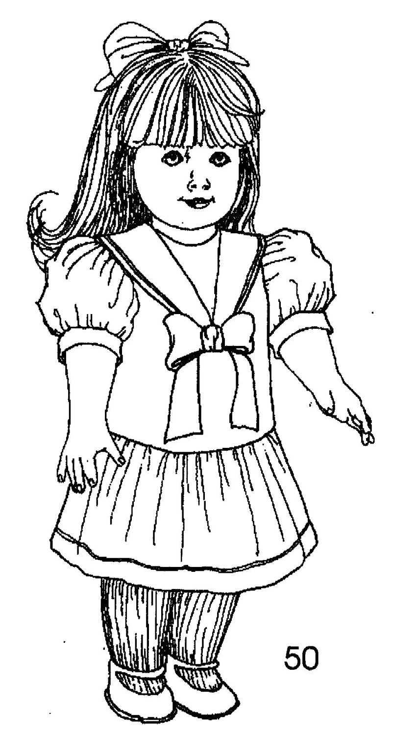 Coloring pages american girl az coloring pages for American girl doll coloring page