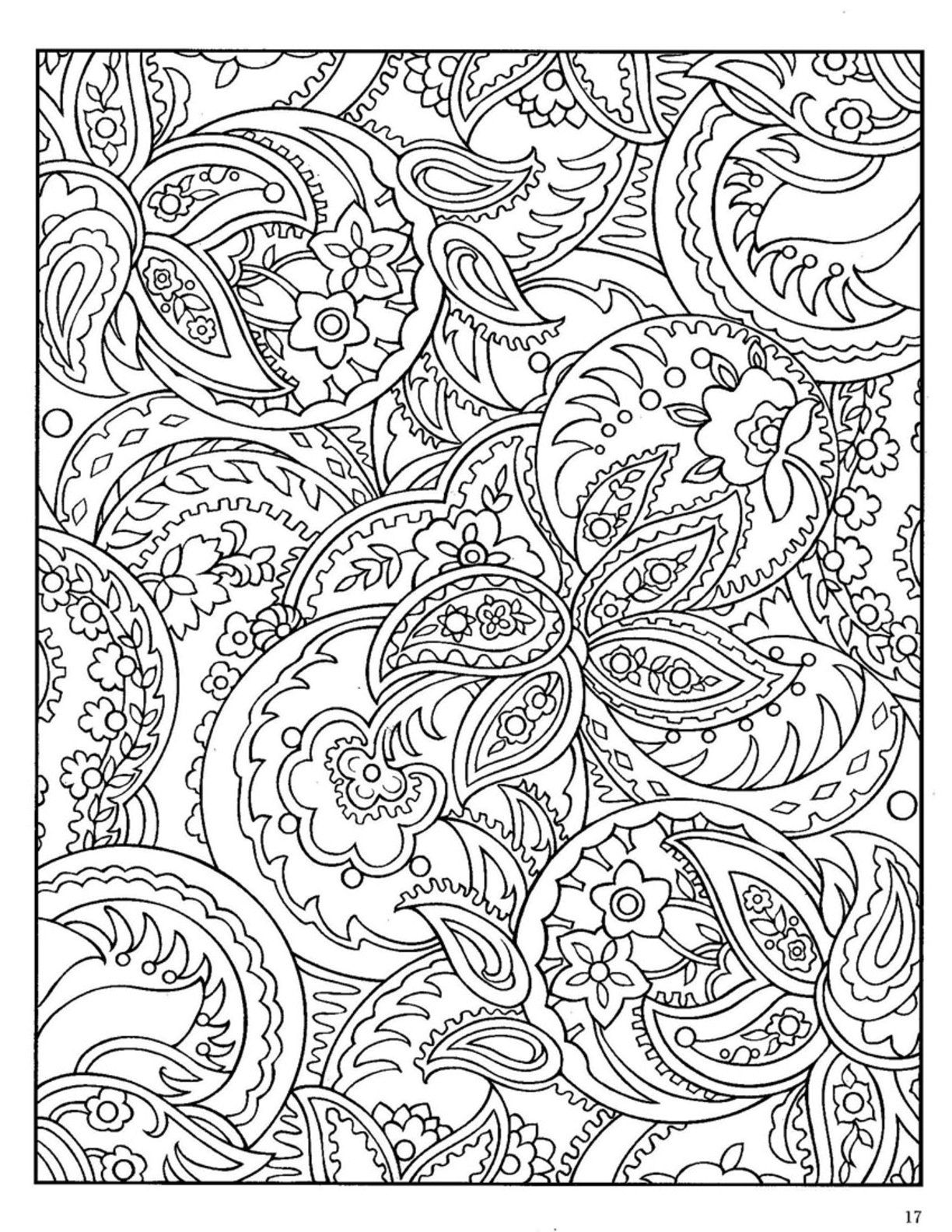 paisley coloring pages peace - photo#24