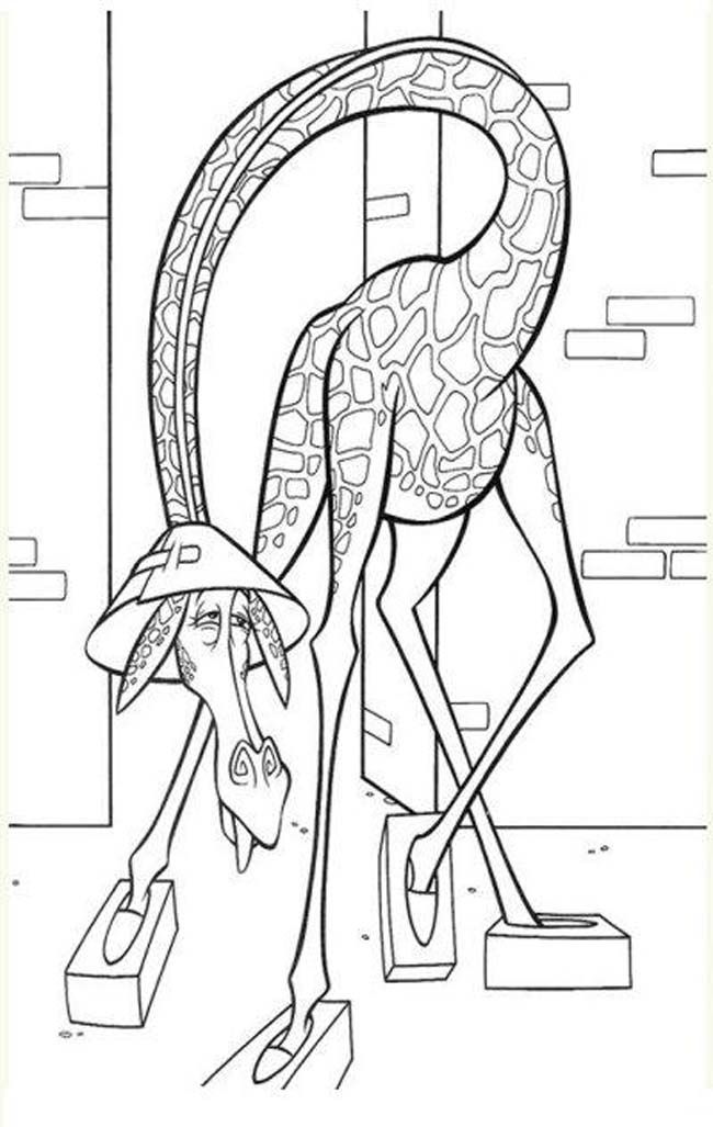 Madagascar Coloring Pages King