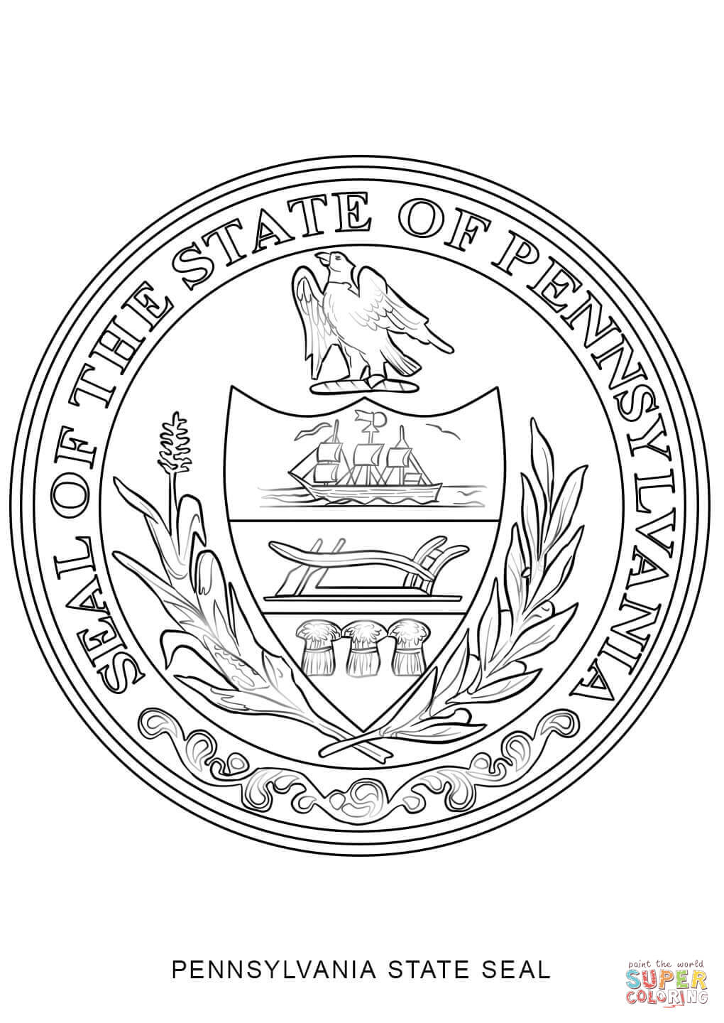 massachusetts state symbols coloring pages - photo#20