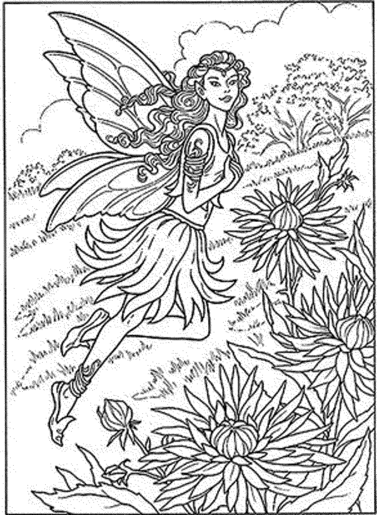 Coloring Pages Of Fairies For Adults - Coloring Home
