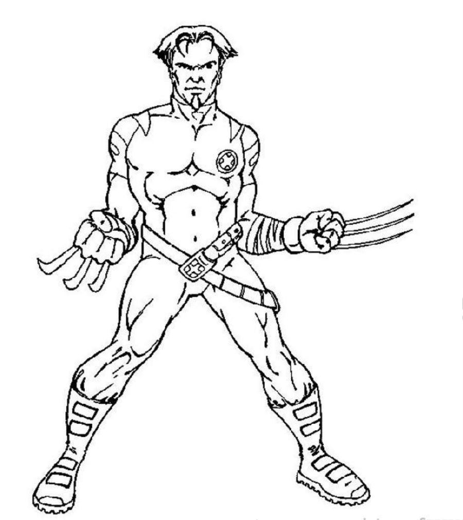 Free Printable X Men Coloring Pages For Kids Coloring Home