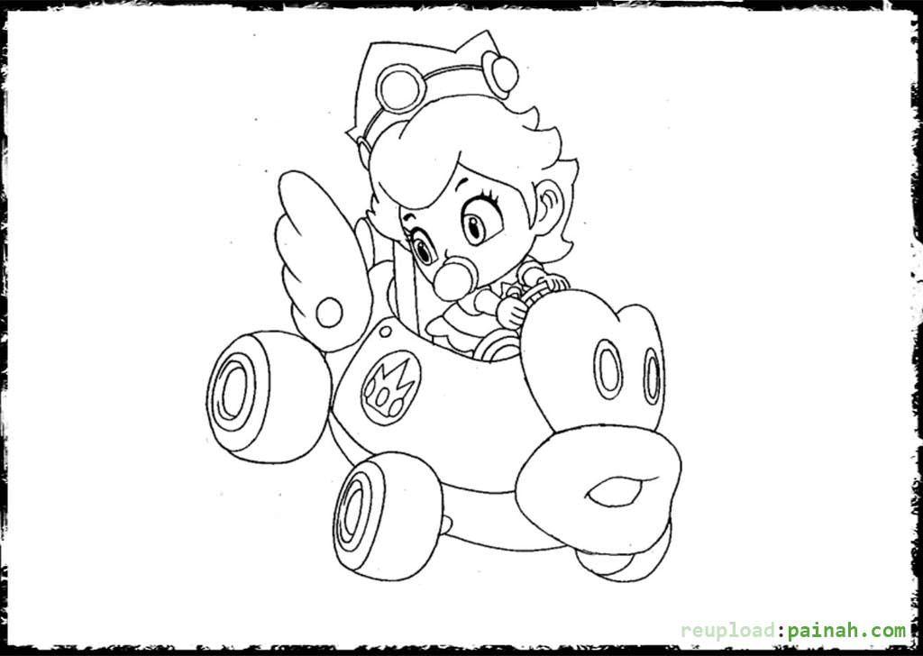 Mario Bros Peach Coloring Pages