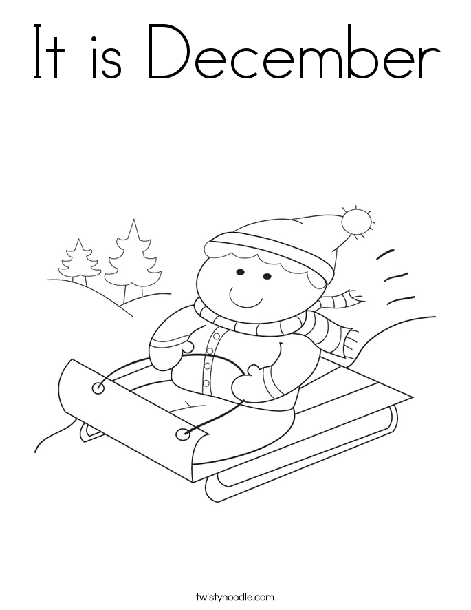 December coloring page coloring home for December coloring page