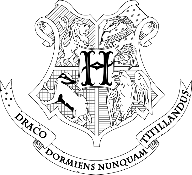 Hogwarts Coat Of Arms Coloring Page - Coloring Home