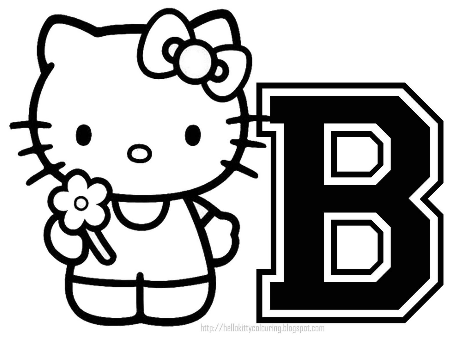 Hello Kitty Nerd Coloring Pages Printable : Black and white hello kitty nerd coloring pages