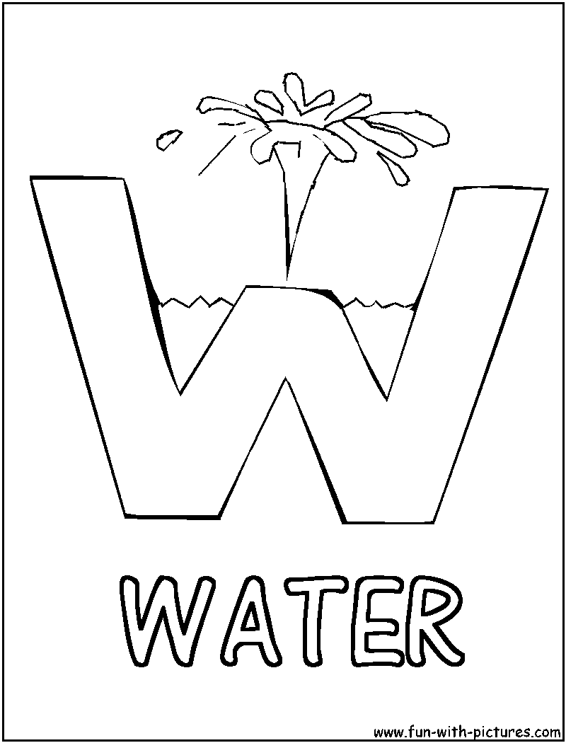 Printable Water Conservation Coloring Pages Water Conservation ...