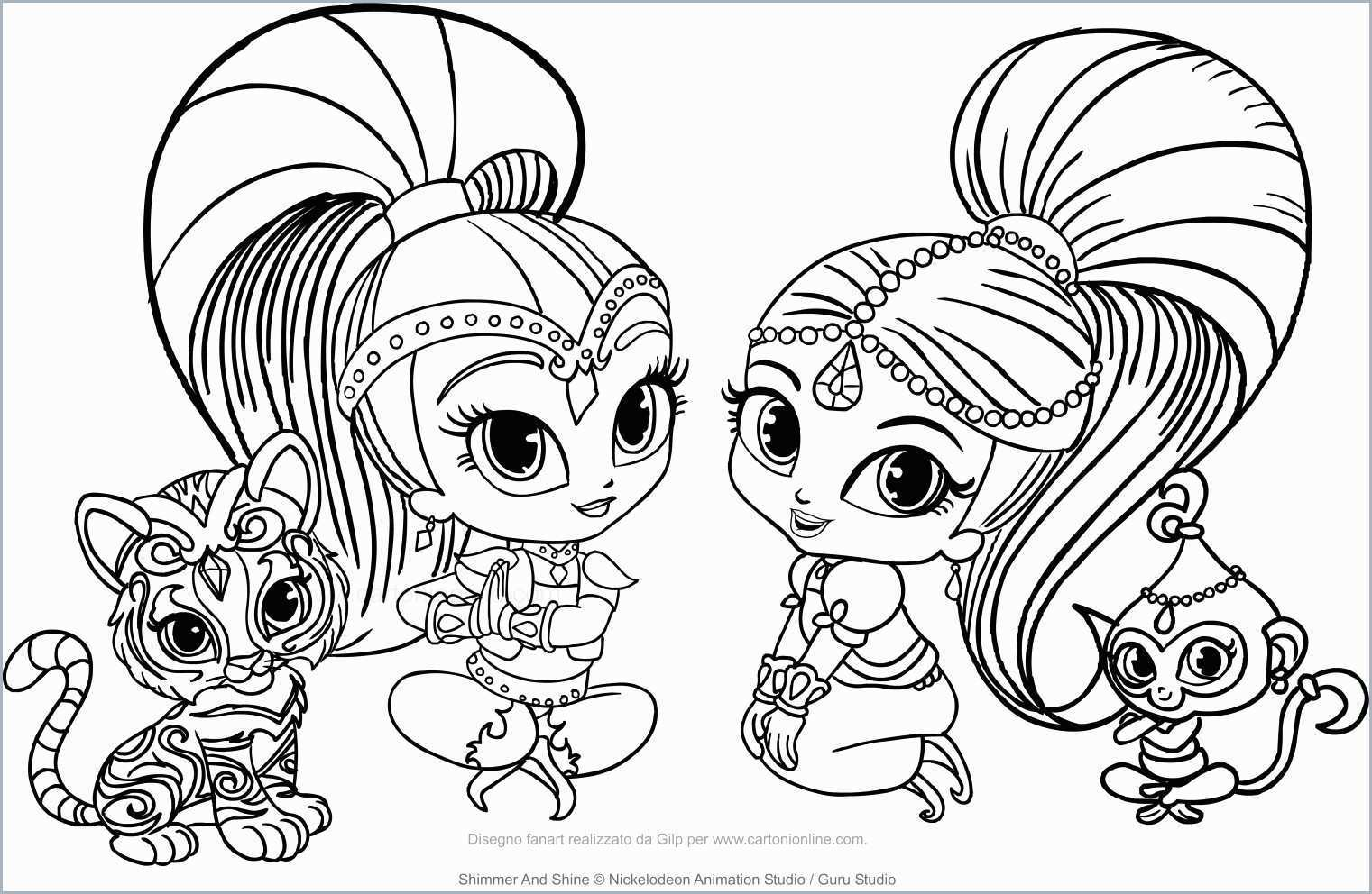 Shimmer And Shine Coloring Pages - Coloring Home