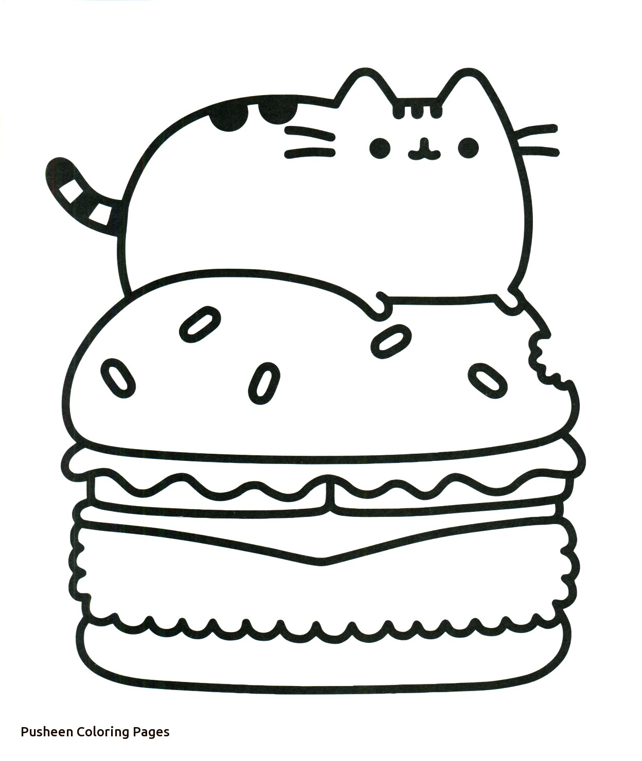 Coloring Pages : Kawaii Pusheen Coloring Pages Double To ...