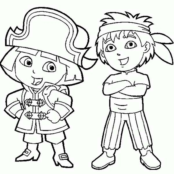 Dora And Diego Coloring Pages Free