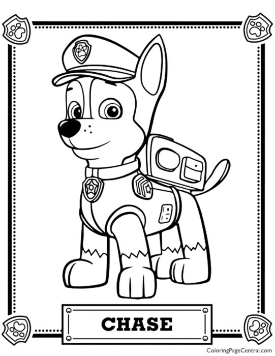 Paw Patrol - Ryder Coloring Page | Coloring Page Central