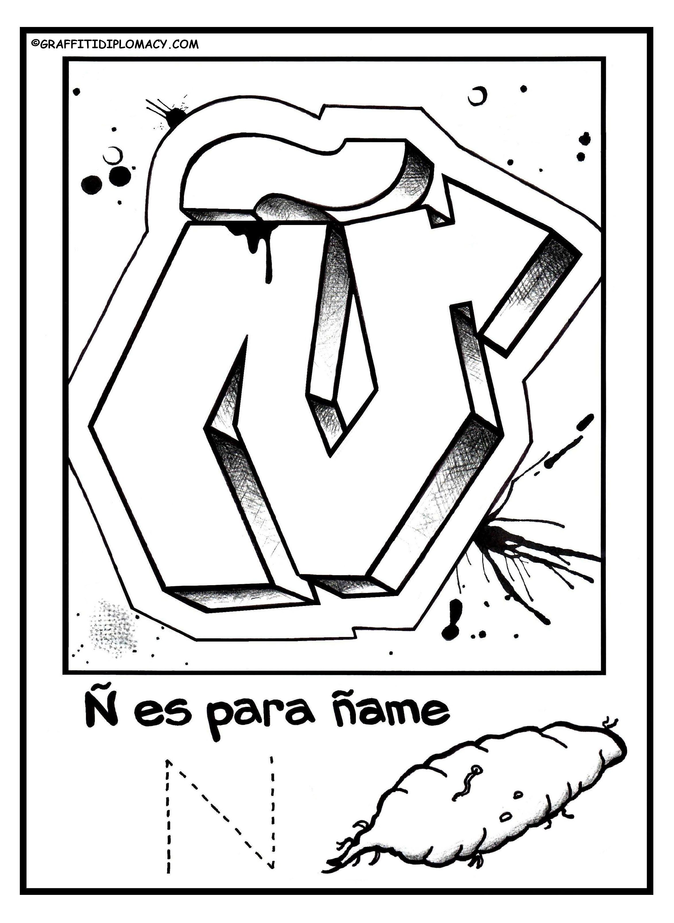 Free Coloring Pages Spanish Alphabet : Spanish alphabet coloring pages home