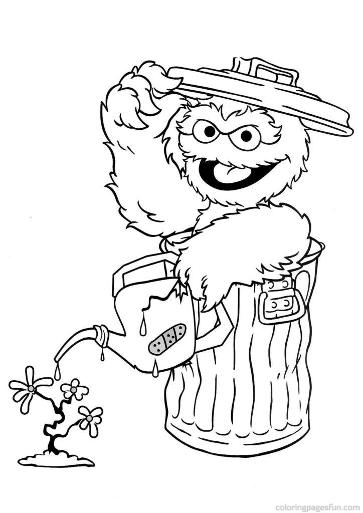 sesame street sign coloring pages - photo#20