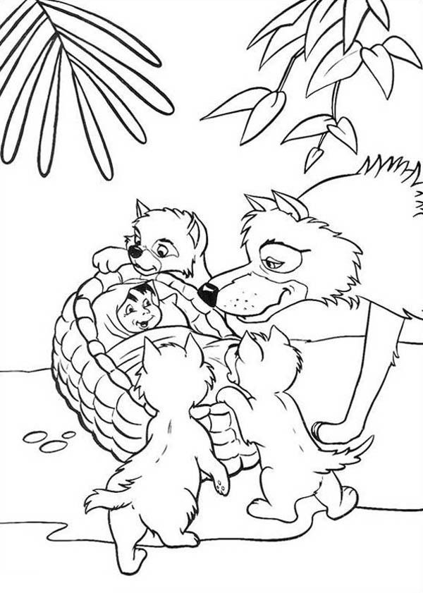 akela coloring pages - photo#2