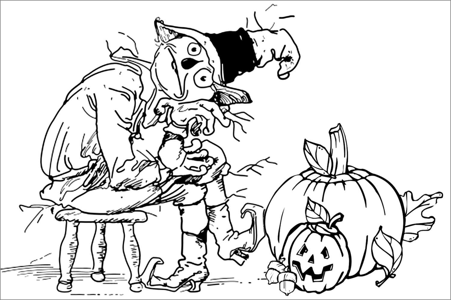 Halloween coloring pages free printable scary coloring home for Halloween coloring pages for adults printables