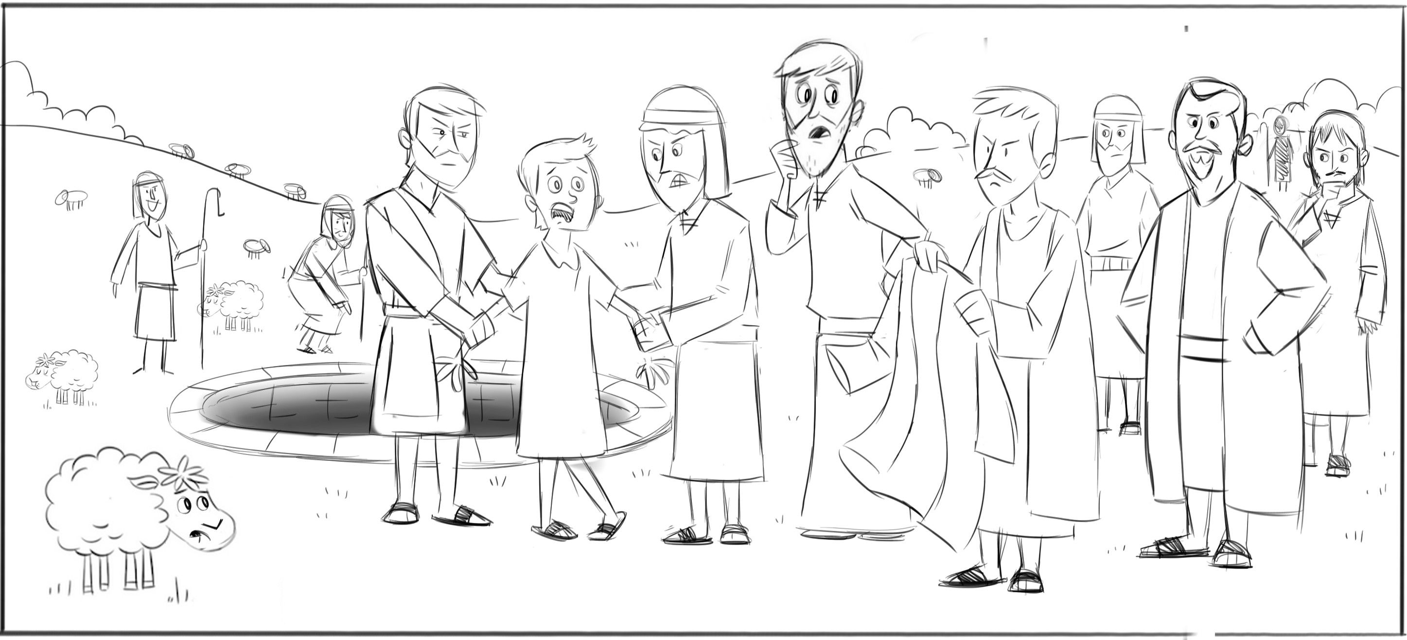 Bible Coloring Pages Joseph Sold Into Slavery Coloring Home