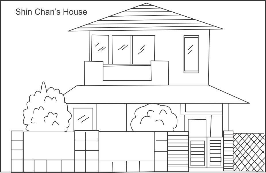 Cartoon House Coloring Pages Coloring Home