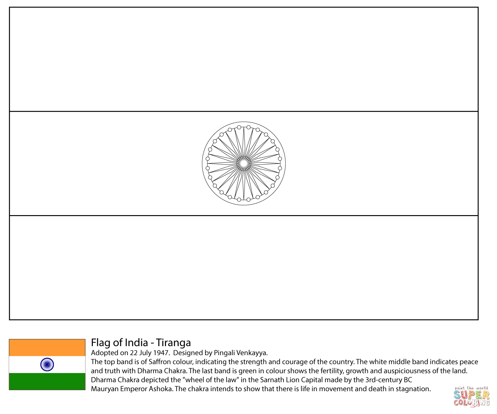 Indian Flag Coloring Pages Az Coloring Pages