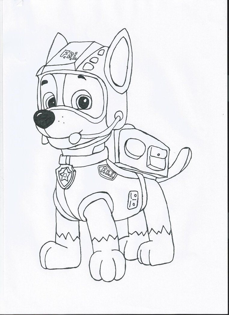 Coloring pages of chase from paw patrol - Chase Paw Patrol Coloring Page Chase Paw Patrol Coloring Pages