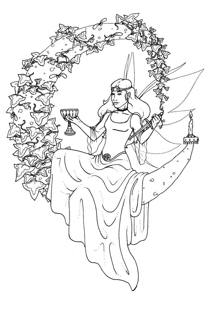 free wiccan coloring pages - photo#32