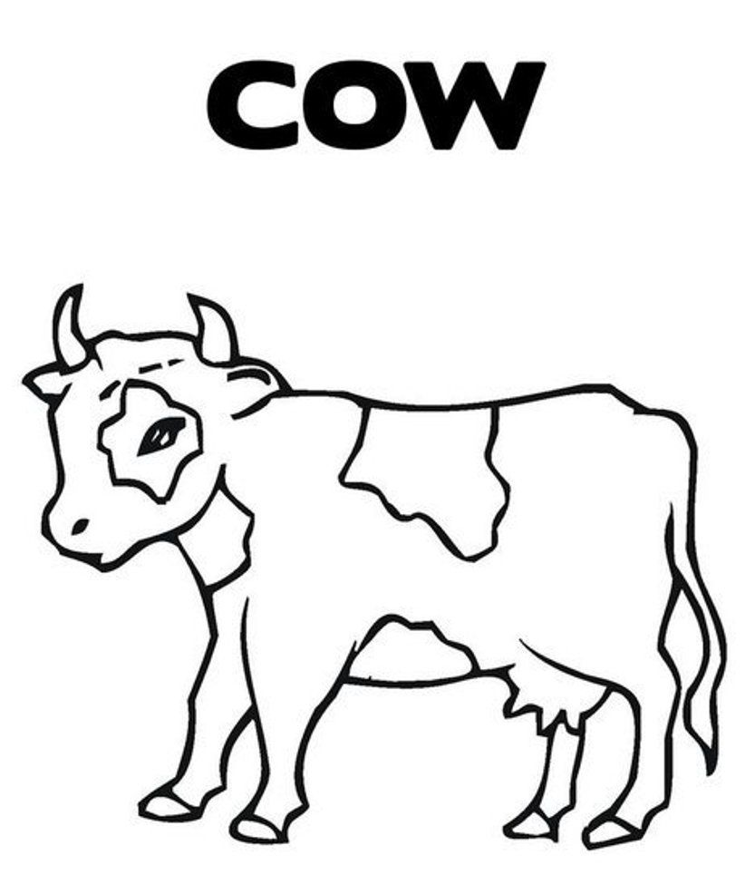c is for cow coloring pages - photo #19