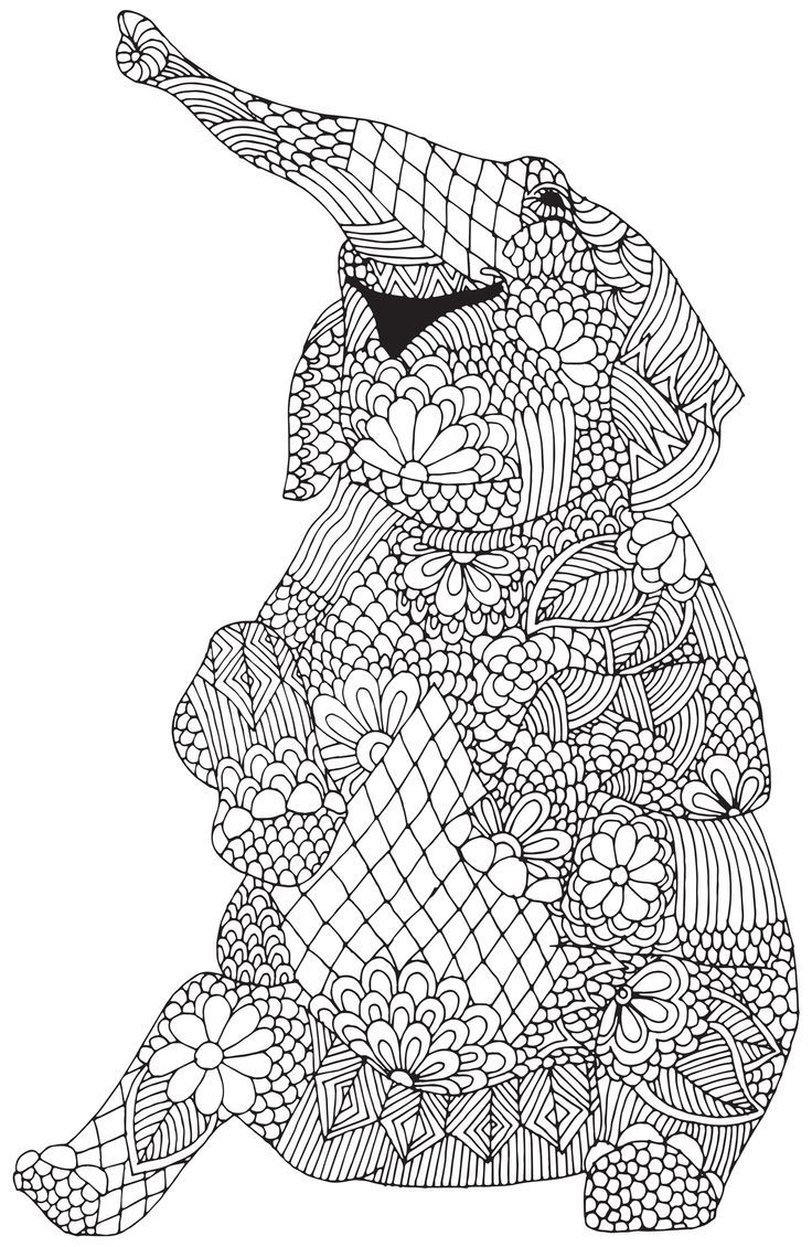 Adult Coloring Pages To Print Animals - Coloring Pages For All Ages