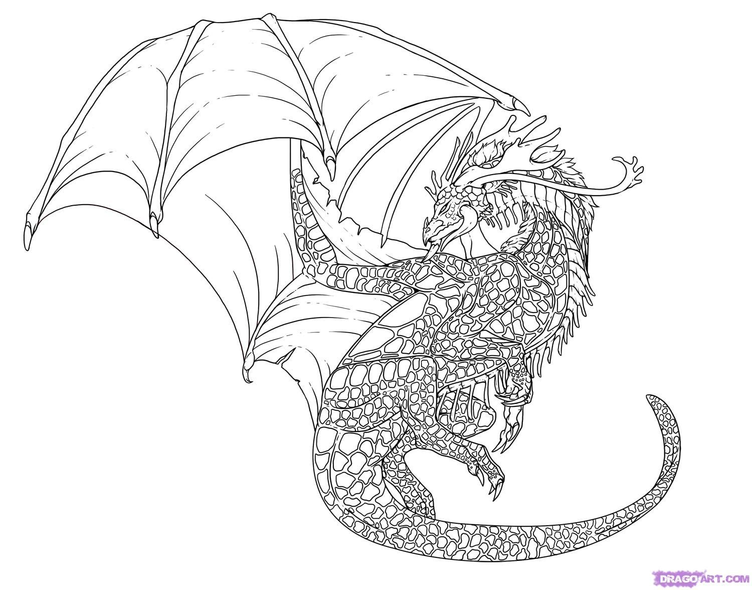Coloring pages for teenagers dragon az coloring pages for Cool dragon coloring pages