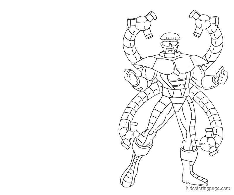 doctor octopus coloring pages - High Quality Coloring Pages