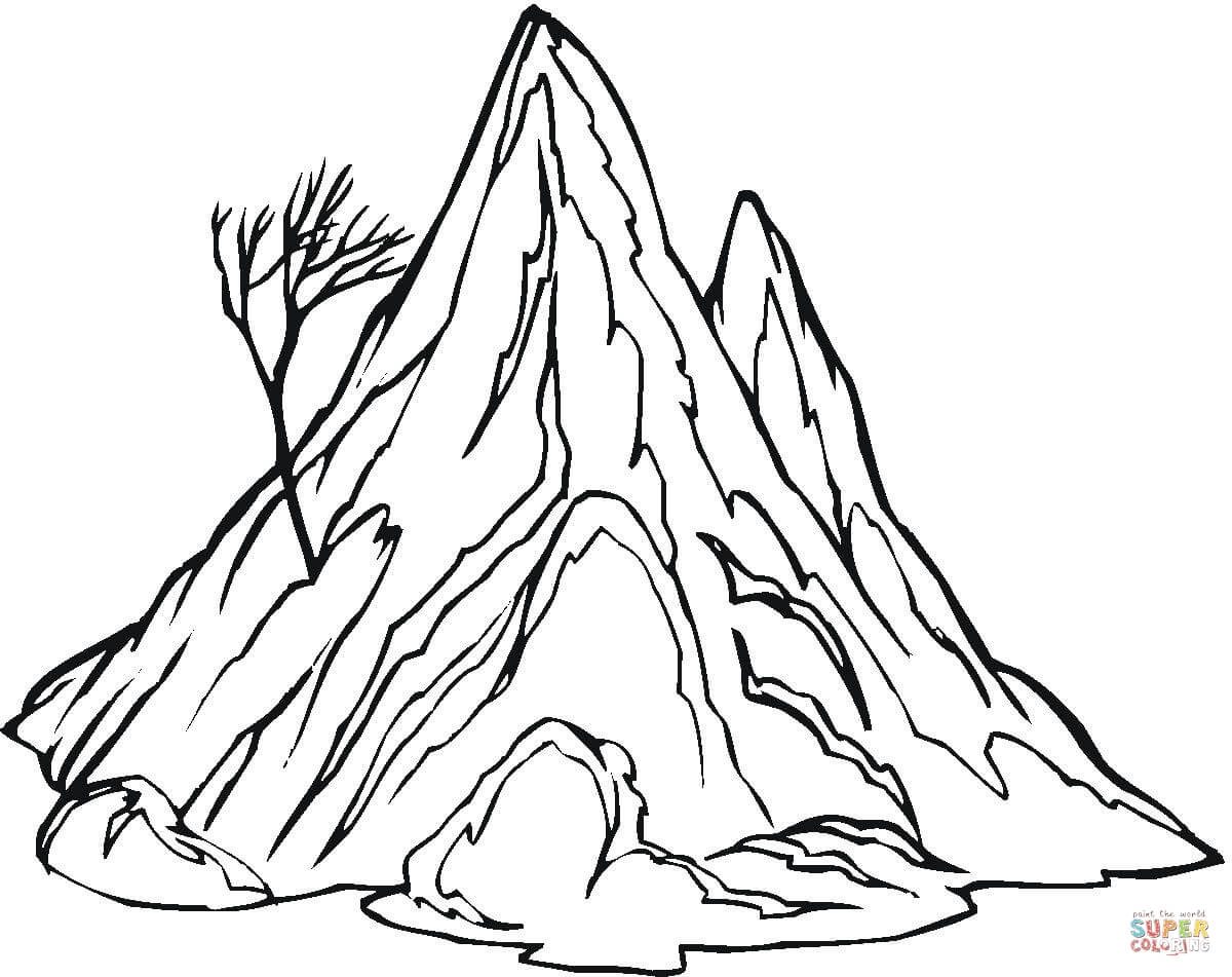 Mountain Coloring Page Coloring Pages For Kids And For Adults