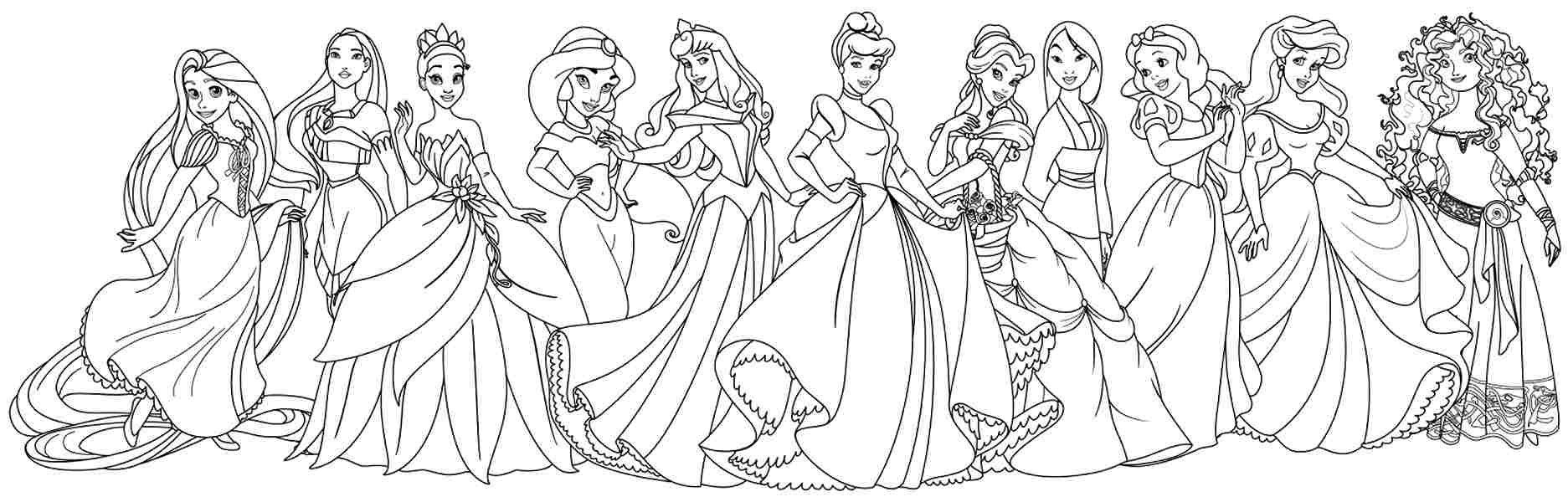 Coloring Pages For Disney Princesses - Coloring Home