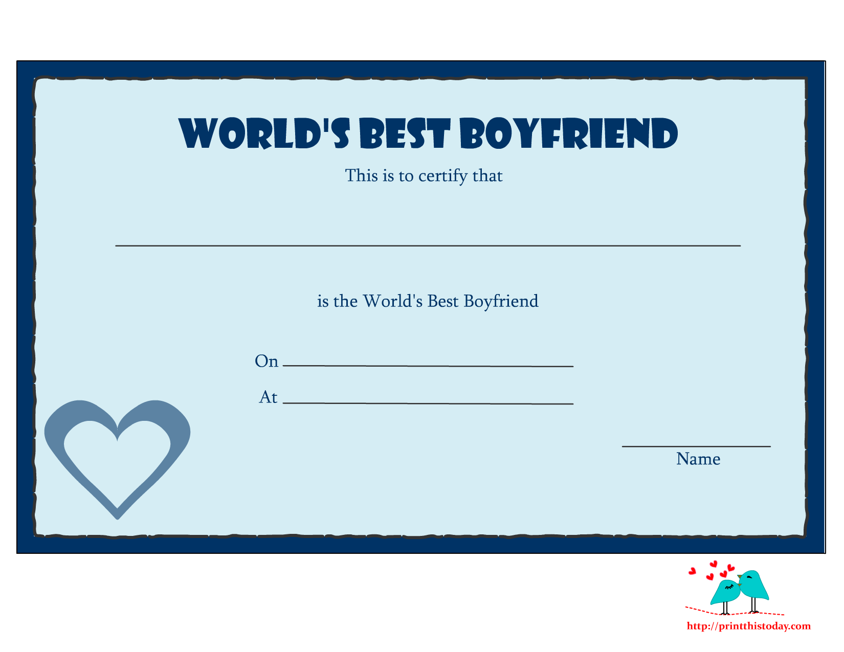 Coloring pages for boyfriend - 7 Best Images Of I Love You Printable Certificates Free