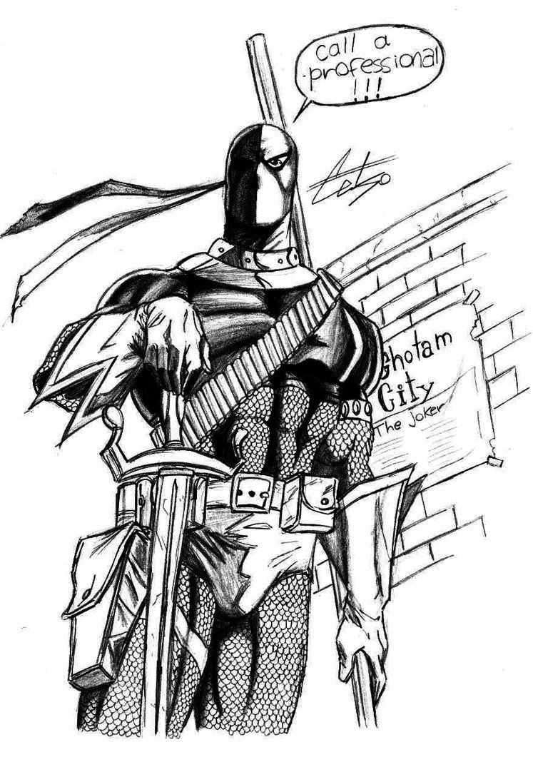 Deathstroke Coloring Pages Sketch Coloring Page Coloring Home