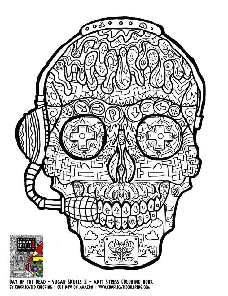 Free Adult Coloring Pages Sugar