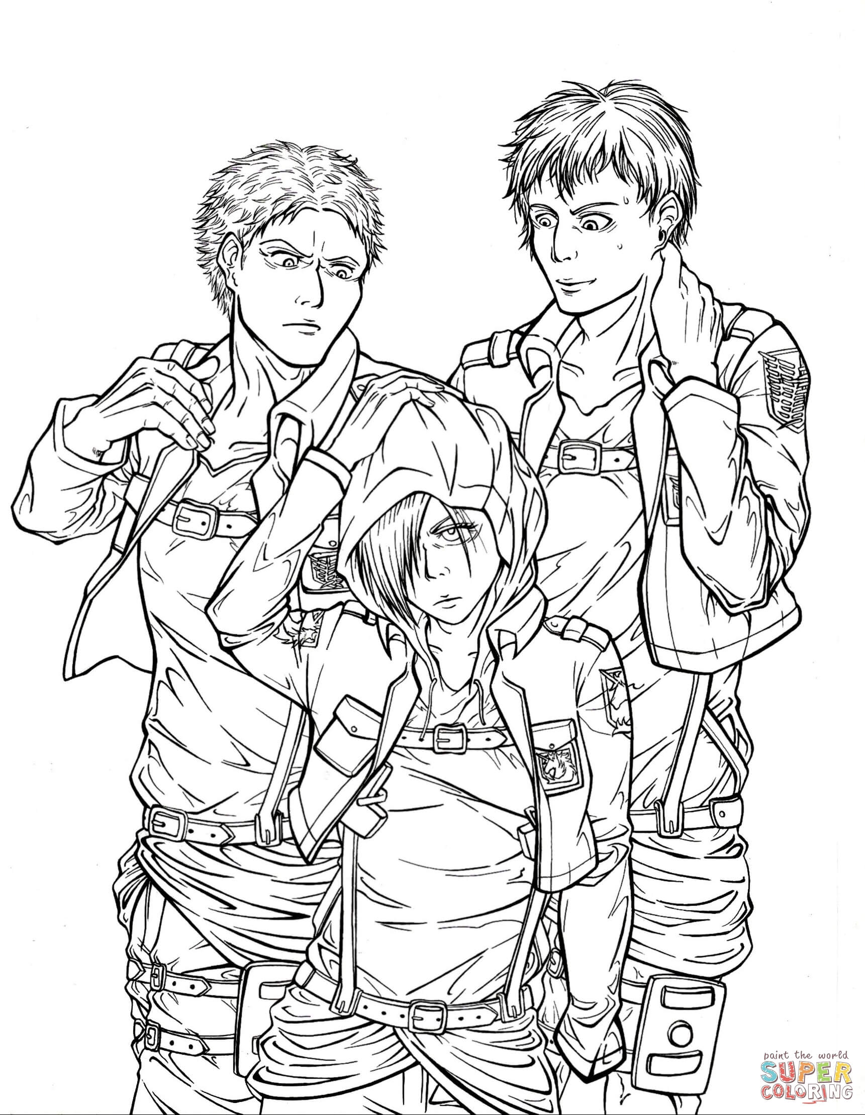 Attack On Titan Coloring Pages Coloring Home