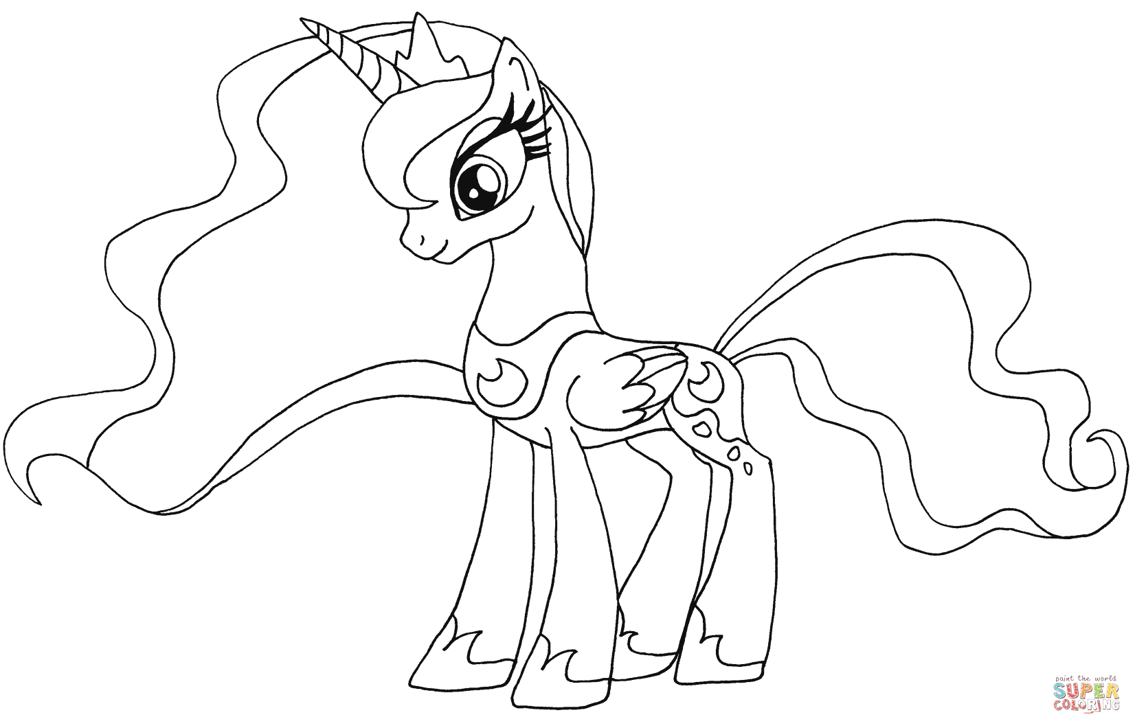 Coloring Pages Princess Pony : My little pony princess luna coloring pages az