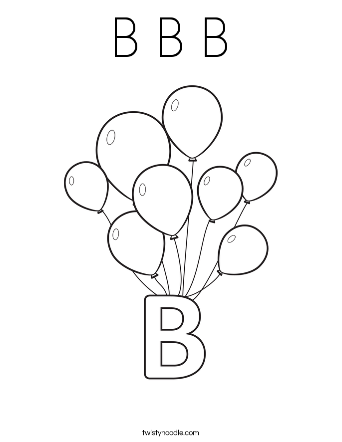 Letter Coloring Pages For Preschoolers - Coloring Home
