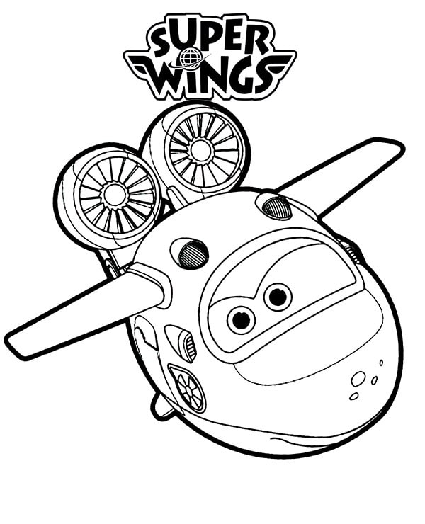 Mira Super Wings 1 Coloring Page - Free Printable Coloring Pages for Kids