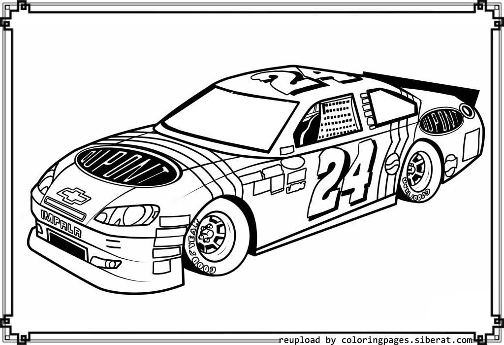 printable nascar coloring pages 3 - photo#2