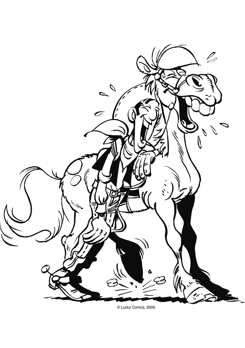 Lucky Luke Coloring Pages Coloring Home