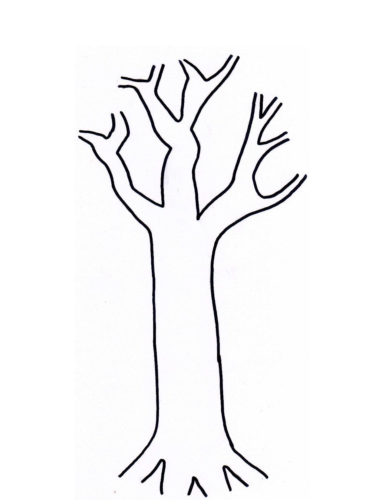 Printable Tree Template Coloring Home Tree Coloring Page Template