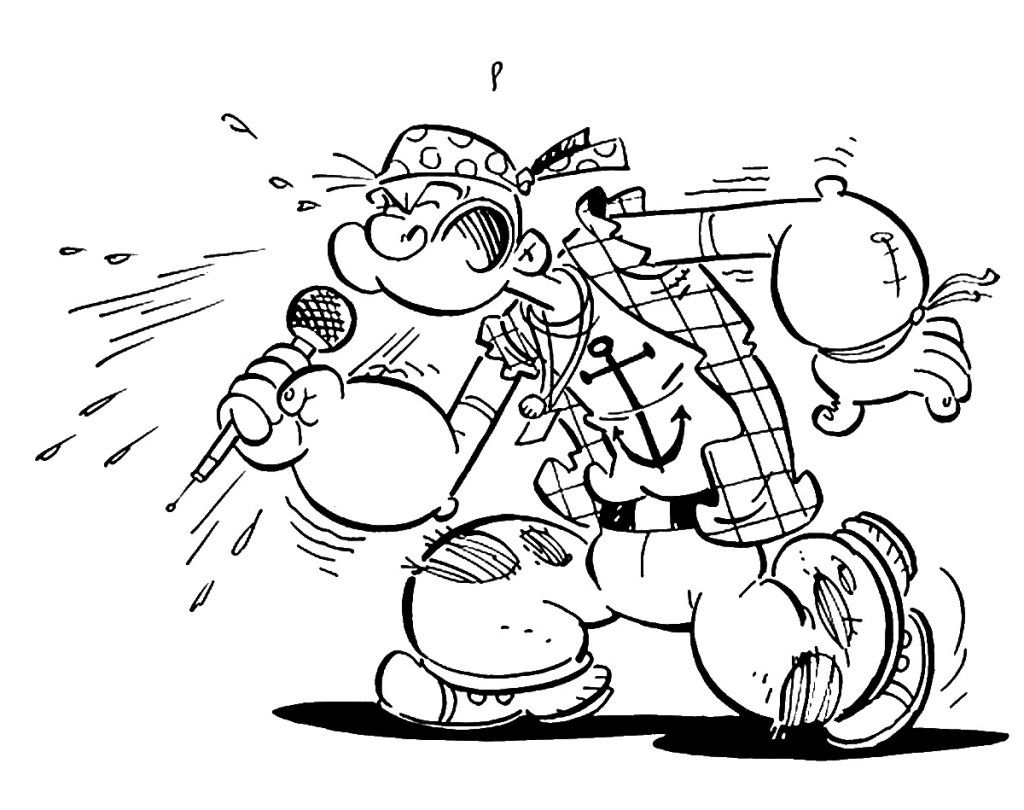 Popeye The Sailor Man Coloring Pages Coloring Home