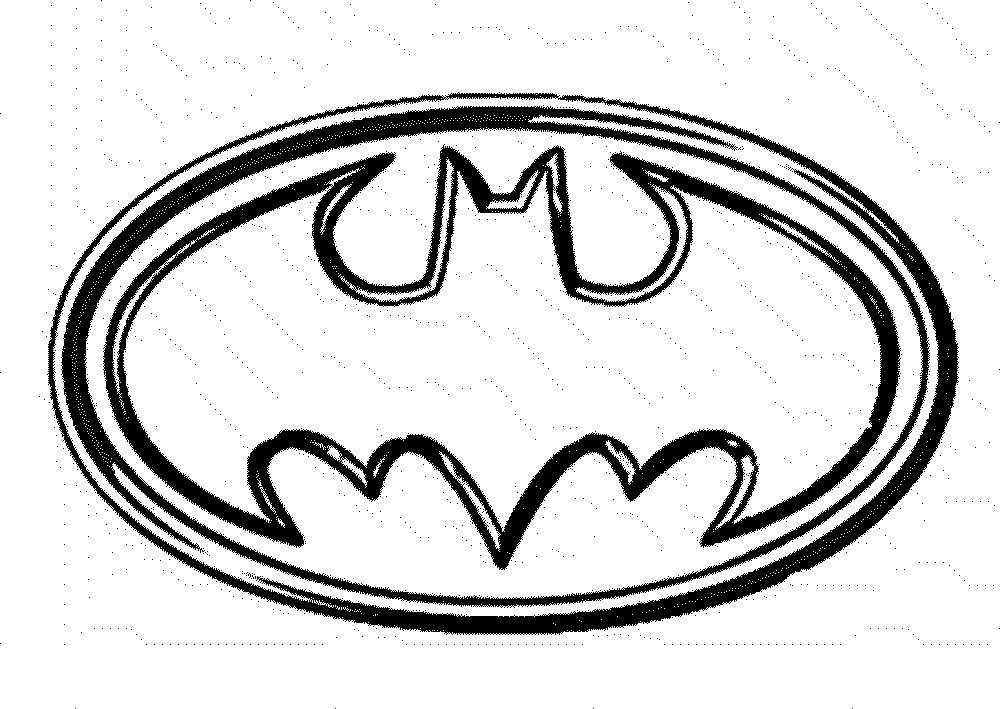 Batman Logo Coloring Pages Coloring