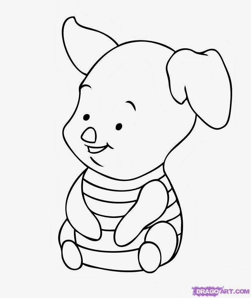 Baby Coloring Pages Winnie Pooh